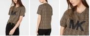 Michael Kors Cotton Leopard-Print Logo T-Shirt, Regular & Petite Sizes