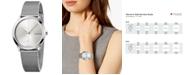 Calvin Klein Women's Minimal Stainless Steel Mesh Bracelet Watch 35mm
