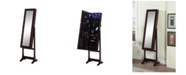 Artiva USA Floor Standing Mirror and Jewelry Armoire with LED Light