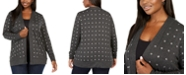 Belldini Black Label Plus Size Grommet Cardigan