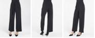 nanette Nanette Lepore Elastic Stretch Regular Wide Leg Loose Pant with Self Sash Belt