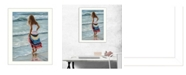 "Trendy Decor 4U The Striped Skirt By Georgia Janisse, Printed Wall Art, Ready to hang, White Frame, 18"" x 14"""