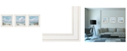 "Trendy Decor 4U Beautiful Day I, II, III 3-Piece Vignette by Georgia Janisse, White Frame, 15"" x 15"""