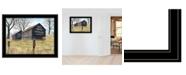 "Trendy Decor 4U Trendy Decor 4U Treat Yourself Mail Pouch Barn by Billy Jacobs, Ready to hang Framed Print, Black Frame, 27"" x 21"""