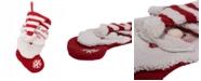 "Glitzhome 19"" L 3D Santa Hooked Stocking"