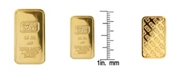 American Coin Treasures American Novelty Coin Treasures2.5 Gram Brass Swiss Ingot Tribute Layered in 24KT Gold