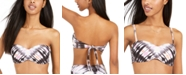Bar III Ink-Dyed Bandeau Bikini Top, Created for Macy's