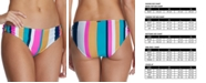 Raisins Juniors' Belle Mar Striped O-Ring Bikini Bottoms, Created for Macy's