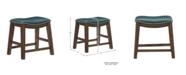 "Furniture Gilman 18"" Height Saddle Stool"