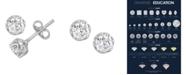 Macy's Certified Diamond 1 ct. t.w. Stud Earrings in 14k White Gold
