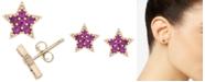 Macy's Ruby Star Stud Earrings (1/4 ct. t.w.) in 14k Gold