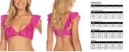 Raisins Juniors' Seychelle Solids Palisades Ruffled Bikini Top
