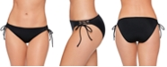 Salt + Cove Juniors' Lace-Up Hipster Bikini Bottoms, Created for Macy's