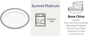 "Noritake Summit Platinum Oval Platter, 14"""