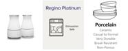 """Noritake Regina Platinum Salt & Pepper, 3-1/4"""""""
