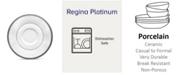 "Noritake Regina Platinum Saucer, 6"""