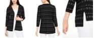 Alfani Petite Dot Stitch Open-Front Cardigan, Created for Macy's