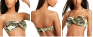Bar III Jungle Moon Printed Twist Bandeau Bikini Top, Created for Macy's