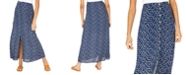 Be Bop Juniors' Floral-Print Button-Front Maxi Skirt