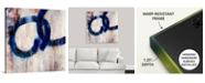 "GreatBigCanvas Lapis Rings I' Framed Canvas Wall Art, 36"" x 36"""