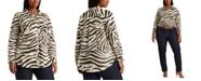 Lauren Ralph Lauren Plus-Size Print Cotton Shirt