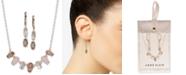 Anne Klein Gold-Tone Multi-Stone Collar Necklace & Drop Earrings Set