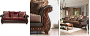 Furniture of America Middlesex Upholstered Sofa