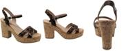CHARLES by Charles David Departed Wedge Sandals