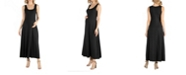 24seven Comfort Apparel Slim fit A Line Sleeveless Maternity Maxi Dress