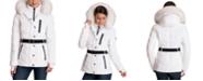 Michael Kors Belted Faux-Fur Trim Hooded Puffer Coat