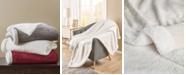 Martha Stewart Collection Carved Sherpa Throw; Created For Macy's