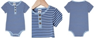 COTTON ON Baby Boys and Girls The Short Sleeve Placket Bubbysuit