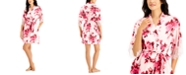 INC International Concepts INC Lace-Trim Floral-Print Wrap Robe, Created for Macy's