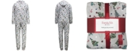 Family Pajamas Matching Men's Festive Trees Hooded Onesie Created for Macy's