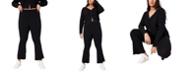 COTTON ON Trendy Plus Size Bella Rib Flare Pant