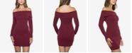 B Darlin Juniors' Glitter Off-The-Shoulder Dress