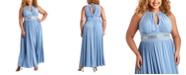 R & M Richards R&M Richards Plus Size Sleeveless Beaded Gown