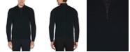 Perry Ellis Men's Textured Merino Long Sleeve Quarter Zip Sweater