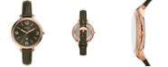 Fossil Women's Monroe Green Leather Strap Watch 38mm