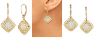 Macy's Mother-of-Pearl Square Filigree Drop Earrings in 14k Gold