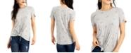 Self Esteem Juniors' Knot Front Mini Rainbow T-Shirt