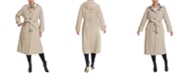 London Fog Plus Size Hooded Maxi Trench Coat