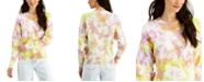 Style & Co Cotton Tie-Dyed Sweater, Created for Macy's