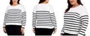Calvin Klein Plus Size Striped Sweater