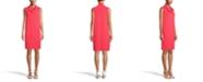 Anne Klein Cowl-Neck Shift Dress
