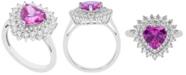 Macy's Women's Heart Ring in Sterling Silver