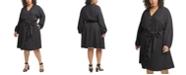 Calvin Klein Plus Size Belted Shirtdress
