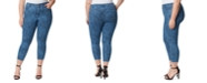 Jessica Simpson Trendy Plus Size Adored Printed Skinny Ankle Jeans