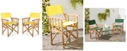 Safavieh Kali Set of 2 Outdoor Director Chairs