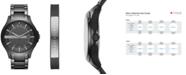A|X Armani Exchange Men's Hampton Black Stainless Steel Bracelet Watch Gift Set 46mm  AX7101